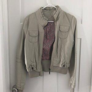 Faux-leather Jacket size medium